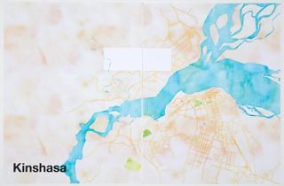 Print, Kinshasa, from Watercolor Maptiles