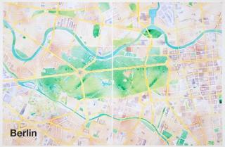 Print, Berlin, from Watercolor Maptiles