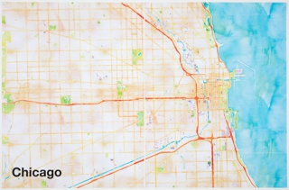 Print, Chicago, from Watercolor Maptiles