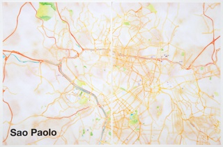Print, São Paolo, from Watercolor Maptiles