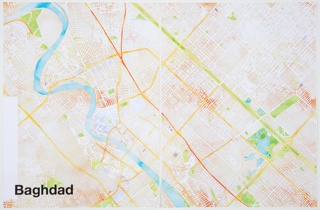 Print, Baghdad, from Watercolor Maptiles