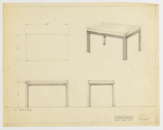 Drawing, Table, September 30, 1933