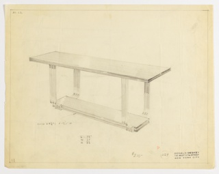 Drawing, Table, 1932