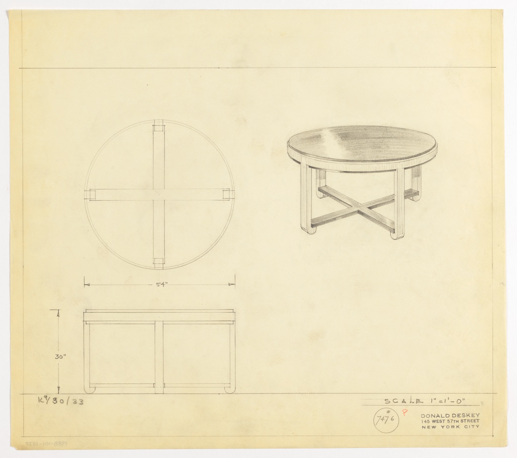 Drawing, Table, Round
