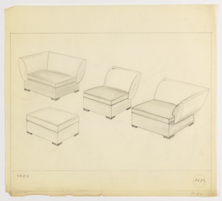 Drawing, Sectional Seating, ca. 1934