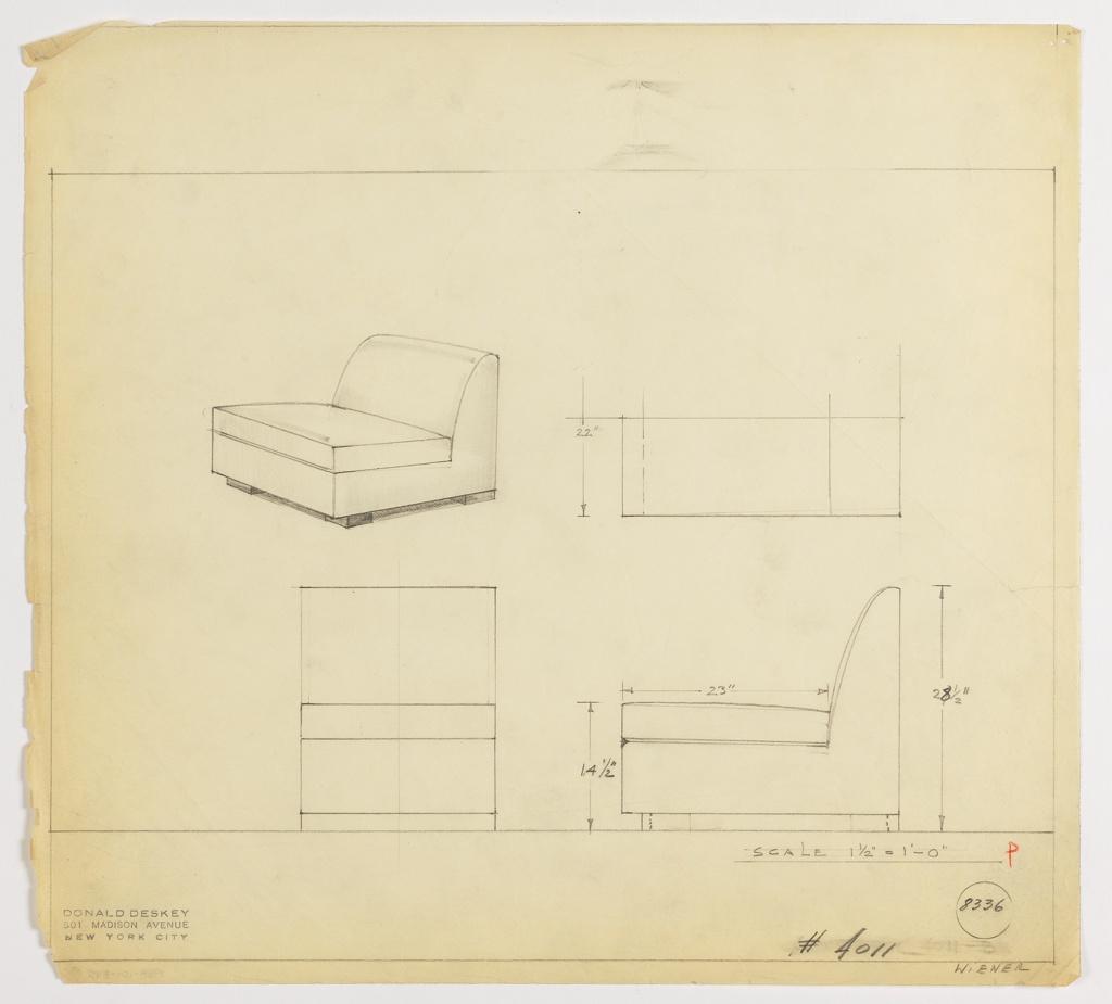 Drawing, Seat