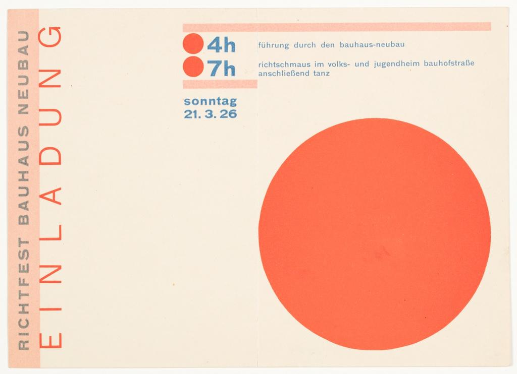 Postcard, Richtfest Bauhaus Neubau (Topping-out Ceremony for the New Bauhaus Building), Dessau