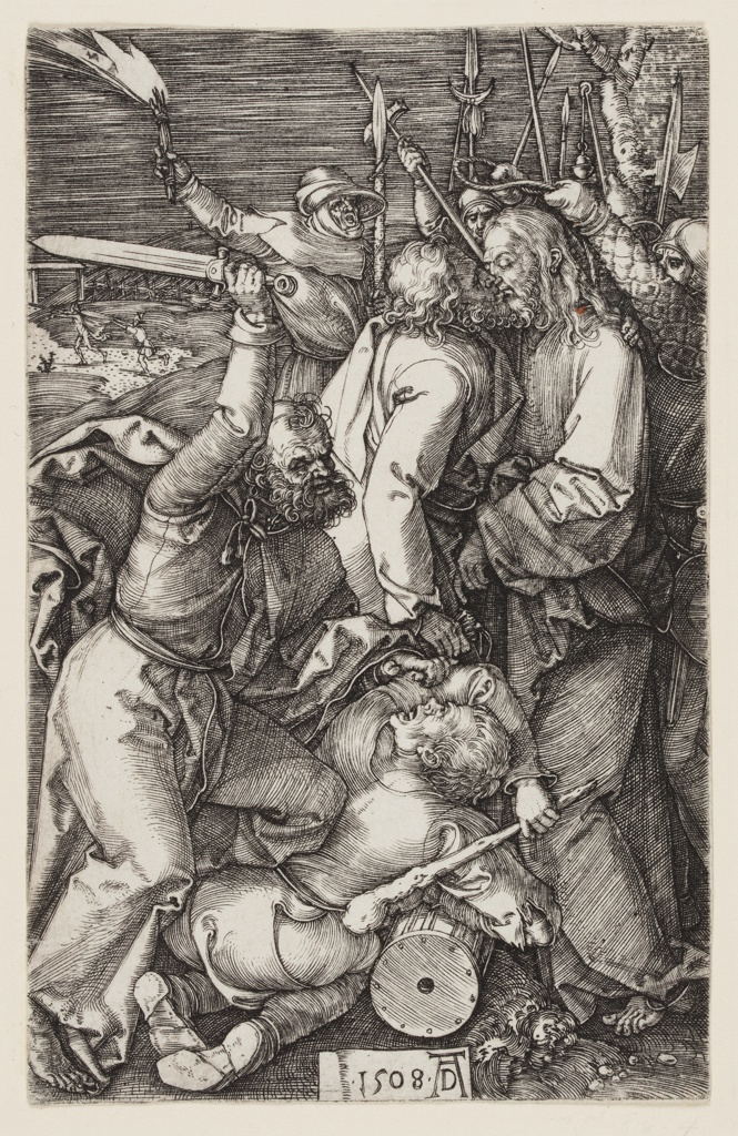 Print, Betrayal of Christ, from The Engraved Passion