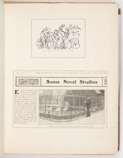 Ephemera, Original Sketch by Mr. Church, Heading to a Letter