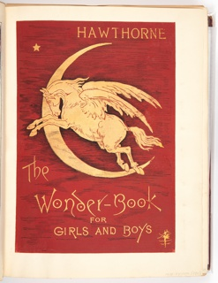 Cover text with a pegasus flying through a crescent moon above it.