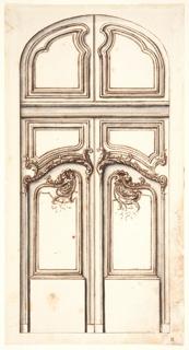 Drawing, Design for a door