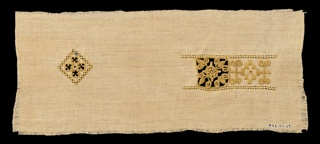 Band embroidered in a Renaissance-type design.