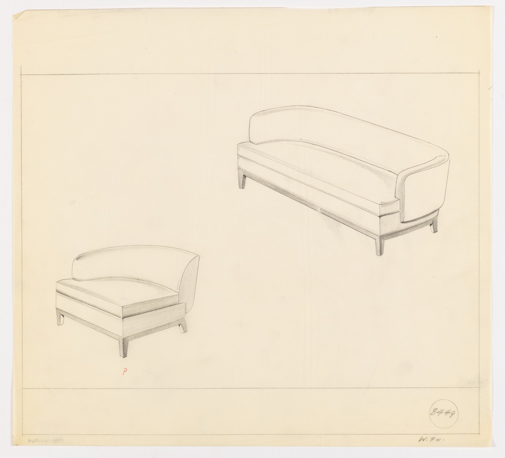Drawing, Sofa, End Chair