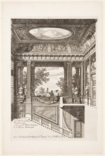 Print, Het Loo Palace, Staircase