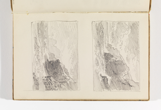 Sketchbook Folio, Two Small Studies of Choppy Sea and Cliffs, after 1878