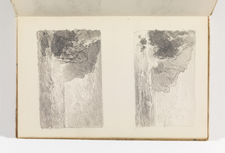 Sketchbook Folio, Two Small Studies of Sea with Cliffs on Left