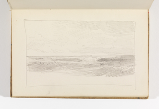Sketchbook Folio, Seascape (Recto); Study of Rain Clouds (Verso)