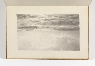 Sketchbook Folio, Study of Ocean, Waves, and Clouds