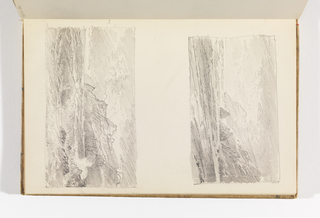 Sketchbook Folio, Two Seascapes with Cliffs at Right
