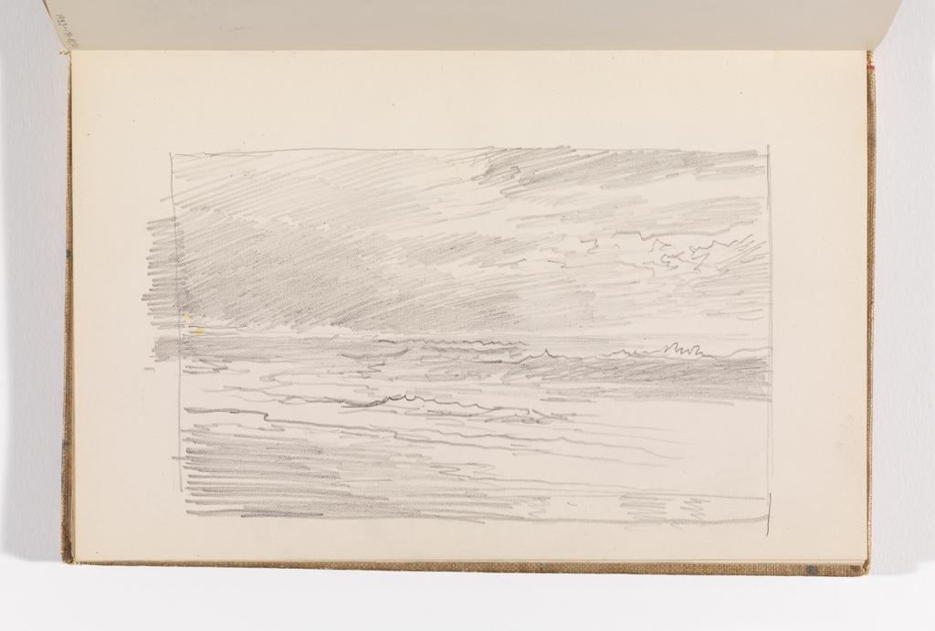 Sketchbook Folio, Rapid Sketch of Ocean and Sky