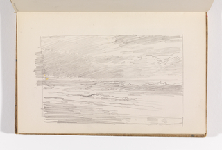Sketchbook Folio, Rapid Sketch of Ocean and Sky