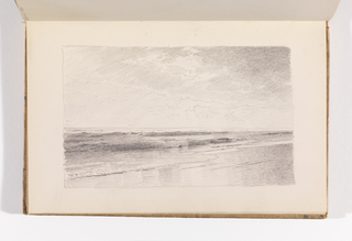 Sketchbook Folio, Serene Beach and Ocean Scene