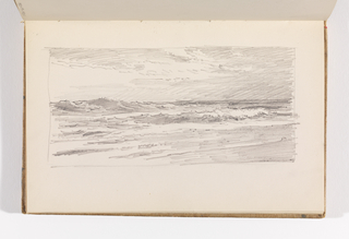 Sketchbook Folio, Rapid Study of Ocean and Sky