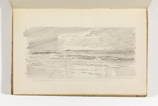 Sketchbook Folio, Rapid Sketch of Ocean with Hatched Sky