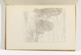 Sketchbook Folio, Seascape with Cliffs and Breakers