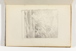 Sketchbook Folio, Seascape with Cliffs and Rock