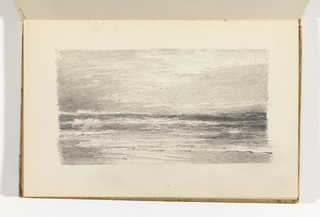 Sketchbook Folio, Seascape with Sun Breaking through Clouds