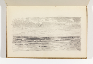 Sketchbook Folio, Seascape with Sun Shining through Clouds, after 1878