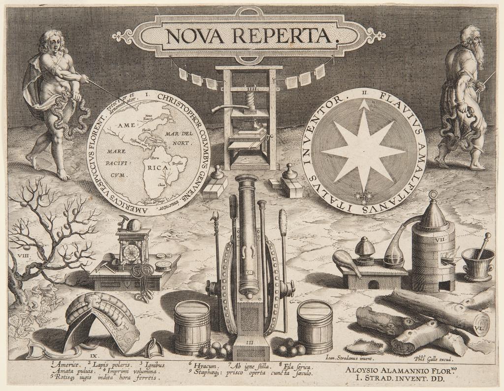 "Print, Title page of ""Nova Reperta"""