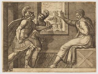 Print, Caius Marius in Prison