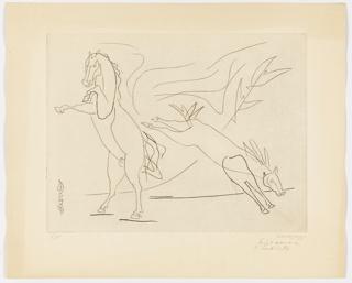 Print, Horses, 1954