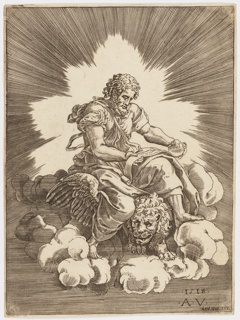 Print, Saint Mark, seated on a Lion