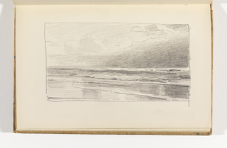 Sketchbook Folio, Ocean View with Beach