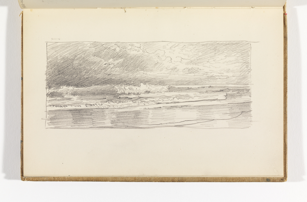 Sketchbook Folio, Seascape with Breakers and Beach, after 1878