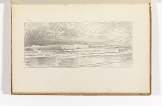 Sketchbook Folio, Seascape with Breakers and Beach