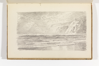 Sketchbook Folio, Seascape with Cliffs