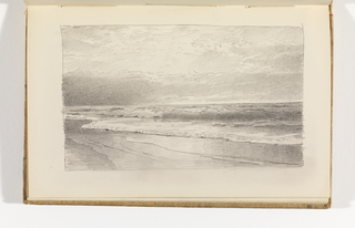 Sketchbook Folio, Serene View of Ocean and Beach