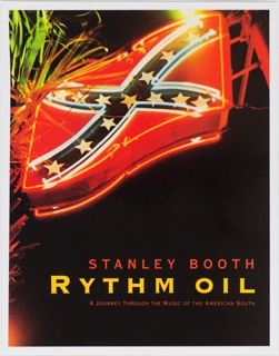 Front cover, photographic image of three-dimensional representation of Confederate flag outlined in neon lights, on black ground except for foliage to the left of sign. Superimposed on lower center of photograph is title in yellow text with subtitle below in smaller red text and author's name, above title in larger red text.