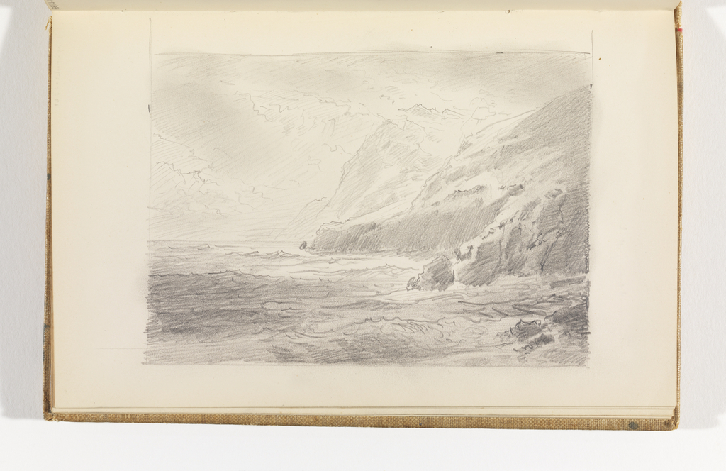 Sketchbook Folio, Seascape with High Cliffs, after 1878