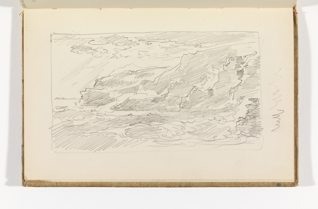 Sketchbook Folio, Sketch of Cliffs and Ocean