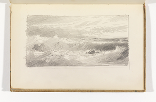 Sketchbook Folio, Seascape with Possible Rock