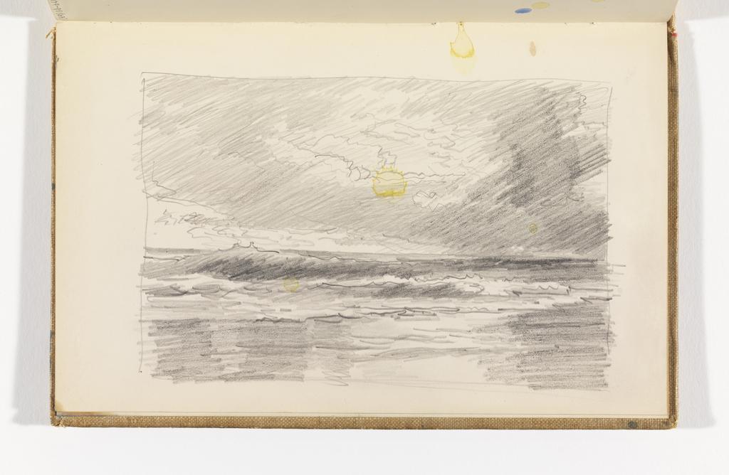 Sketchbook Folio, Waves Breaking on Beach