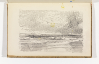 Sketchbook Folio, Waves Breaking on Beach