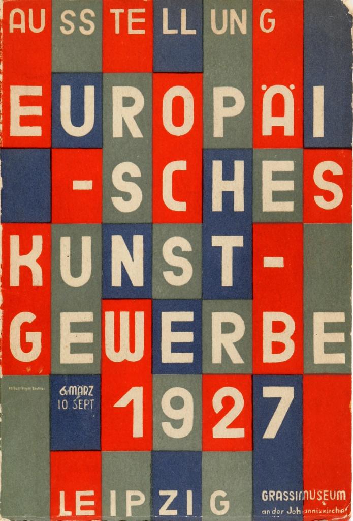 Poster, Ausstellung Europäisches Kunstgewerbe (Exhibition of European Applied Arts), Grassimuseum, Leipzig, 1927
