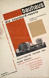 Poster, Bauhaus: Die Standard-tapete (Standard Wallpaper), 1927