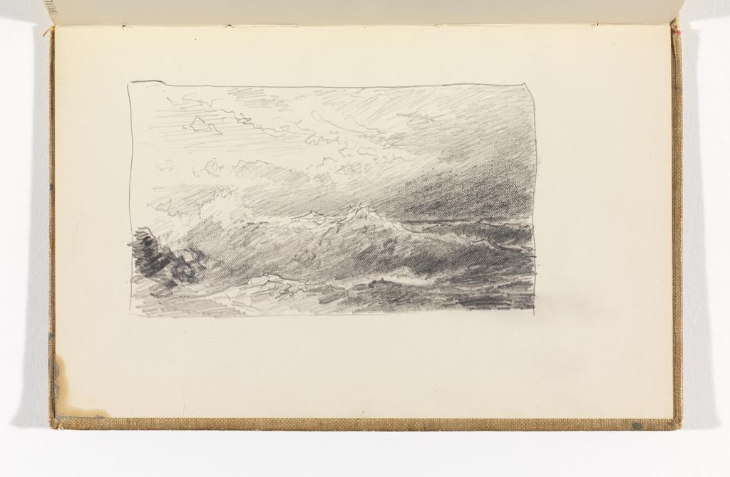 Sketchbook Folio, Waves beneath Dramatic Sky